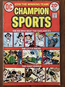"""Champion Sports #1 (Nov 1973, DC) """"The Boy Who Beat the Oakland A's"""""""