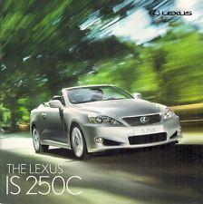 Lexus IS 250 C 2009-10 UK Market Sales Brochure SE-I SE-L