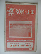 Chelsea Football Reserve Fixture Programmes (1960s)