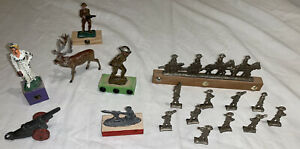 Barclay Manoil Grey Iron Hubley Metal Cast Iron Lead Toy Soldiers Army US WWI -2