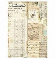 Rice Decoupage Paper / Decoupage Sheets  / Scrapbooking / Vintage Print Beige