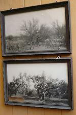 VINTAGE PHOTOGRAPH GEORGE TALLMON JONES, BIG SPRING TX, NORTH OF TUCSON - PAIR