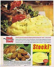 PUBLICITE ADVERTISING 105  1966  KNORR les croquettes de purée STOCKI