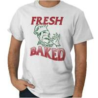 Fresh Baked Pizza Foodie Stoner Marijuana 420 Adult Short Sleeve Crewneck Tee
