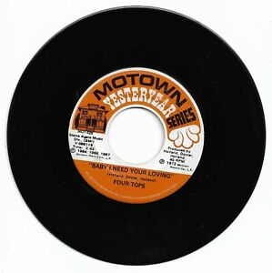 FOUR TOPS  - BABY I NEED YOUR LOVING - MOTOWN YESTERYEAR -  EX. CONDITION