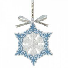 Wedgwood Pierced Snowflake Christmas Ornament New In The Box (S)