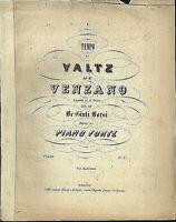 """VENZANO ,"""" Valtz """"   alte, übergroße Noten"""