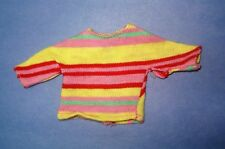 Vtg Barbie Francie 60s Mod Doll Clothes Hi Teen Striped Shirt 1967 1272