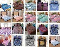 Quilt Duvet Doona Cover Set Queen Double Size Mandala Pattern Bedding Quilt