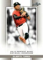 """GILBERTO TORRES 2019 """"1ST EVER PRINTED"""" LEAF PERFECT GAME NIKE ROOKIE CARD!"""
