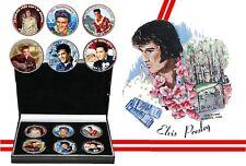 Elvis PRESLEY-Limited Edition JFK Kennedy mezzo dollaro monete set