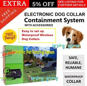 Electronic Dog Fence Containment Fencing Boundary System Wireless Safety Collar