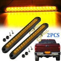 """2X Amber 10"""" Inch 15 LED Turn Signal Stop Tail Light Bar Trailer Truck RV Camper"""
