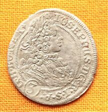 Medieval Austrian Coin - Joseph Silesian Silver 3 Kreuzer - 1707.