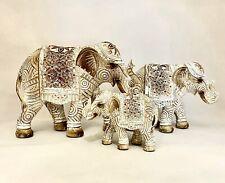 Elephant Statue Ornament Figurine Wood/Resin Sculpture Boho