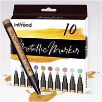 Metallic Marker 10 Farben permanent wasserfeste Stifte int!rend