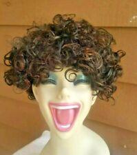HUMAN HAIR WIG SHORT CURLY 100% HH FRANCIEL NIB BY ITS A CAP WEAVE P1B/33