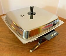 Vintage Toastmaster Electric Skillet Stainless Steel Frying Pan Fully Immersible