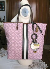 JUICY COUTURE PINK SCOTTIE PRINT LRG TOTE BAG HANDBAG PURSE W/ INTERIOR CASE