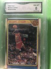 1988 Fleer All-Star Basketball Card #120 Michael Jordan Chicago Bull GMA 8 NM-MT