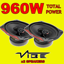 "VIBE Slick 6x9"" 6x9 480W 3-way car rear deck oval shelf speakers, brand new pair"