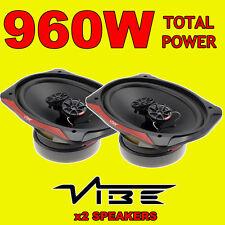 "VIBE Slick 6x9"" 6x9 480W 3-way car rear deck oval shelf speakers, brand new pair"