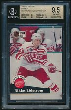 1991-92 Pro Set French rookie #531 Nicklas Lidstrom UER rc BGS 9.5