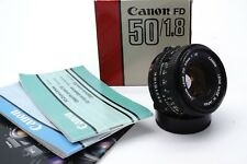Canon FD 50mm 1:1 .8 NFD estándar objetivamente lens digital puede ser adaptado/embalaje original/Boxed