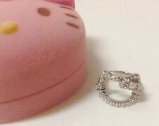 Sanrio Hello Kitty Face Bow Pearl Ring kawaii Authentic