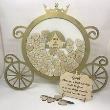 Disney sur le thème princesse Cendrillon Citrouille Carriage Or Mariage Boîte De Dépôt