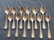 Superbe lot 12 cuillers à café Métal Argenté/ Set 12 Coffee spoons 15cm Rocaille