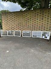 More details for job lot of 6 reclaimed leaded light panel wooden window