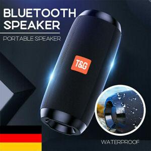 Tragbarer Bluetooth Lautsprecher Stereo Subwoofer PC Handy LED Musikbox Soundbox
