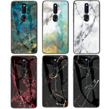 For OPPO F11 Pro F9 F7 F5 A7 Find X Marble Tempered Glass Hybrid Hard Case Cover