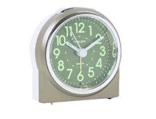 London Clock Company Small Grey Luminious Display Analogue Alarm Clock 04175