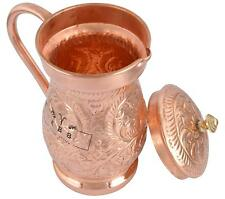 100% Copper 2 Lt Ayurveda Copper Water Hammered Pitcher jug For Drinking Water