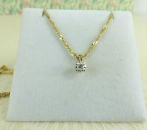 9ct Gold Diamond Pendant 0.10ct and 20'' 9ct Gold Chain with gift box