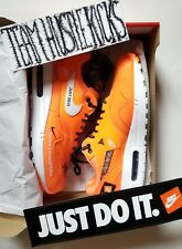 "Nike Air Max 1 SE ""Just Do It"" Orange JDI Collection mens size 10"