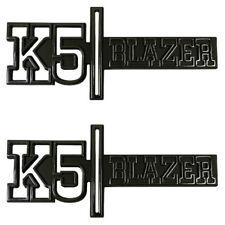 "73-74 Chevrolet "" K5 BLAZER "" 4WD Front Fender Emblem Trim SET - Trim Parts"