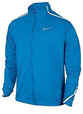 Size Large L Nike Mens Impossibly Light Blue Full Zip Running Jacket Reflective