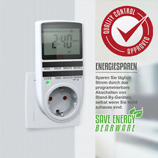 Digitale Timer-Buchse LCD-Display 12/24 Stunden Energiesparende Steckdosen Neu