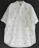 Polo Ralph Lauren Big and Tall Mens LT White Aloha S/S Button-Front Shirt NWT LT