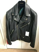 Authentic Paul Smith Leather Biker Slim Fit Jacket Size M rrp € 1940