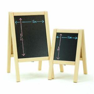 Mini wooden A Board chalkboard blackboard A5 A6 small table top display