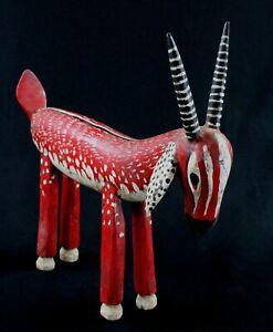 Art African Ethno - Puppet Antelope Bozo Wooden - Animal Statue - 43 CMS