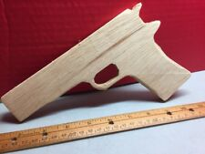 Pistol Gun Wooden Craft Oak 9mm Cosplay Paintable