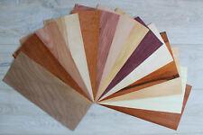 """Wood veneer sheets, veneer mix, veneer pack, 14 sheets wood veneer, 0.6mm ~1/42"""""""