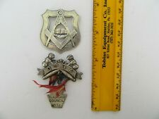 Antique Free Mason Masonic O of IA Sterling Silver Medal Star of West