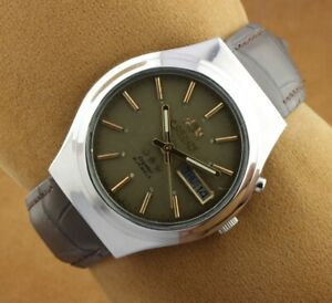 VINTAGE ORIENT 46941 AUTOMATIC JAPAN MEN'S WORKING WRIST WATCH 36MM F0223