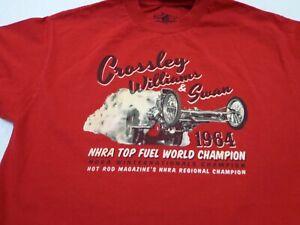 Crossley Williams & Swan 1964 NHRA World Champion Red Line T Shirt Club Medium